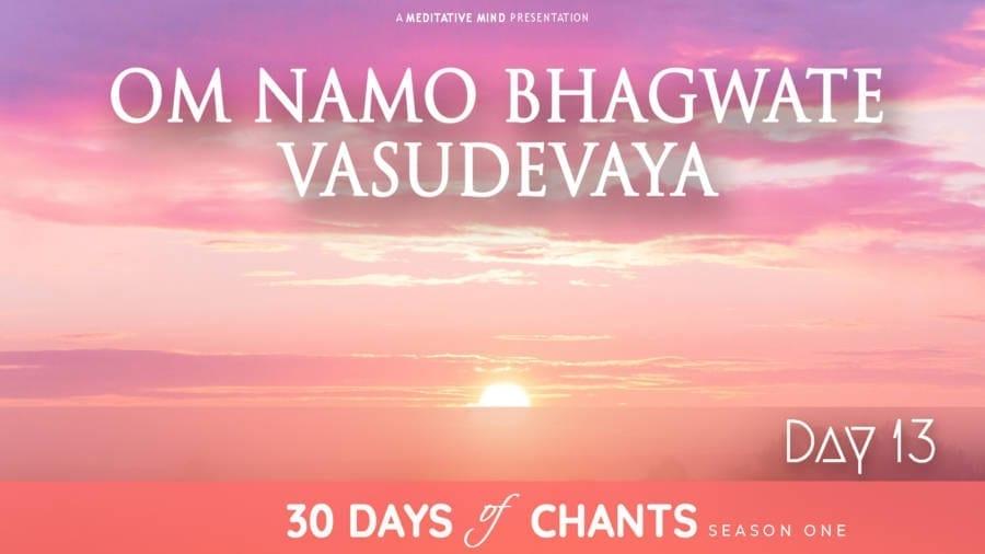 DAY 13 | Om Namo Bhagvate Vasudevaya