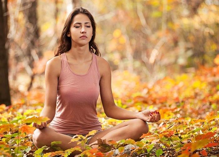 Indian Girl Meditating Breathing Guided Meditation