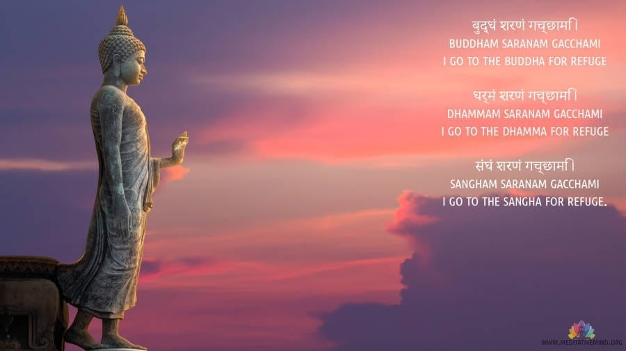 Buddham Saranam Gacchami Mantra, Meaning and Benefits
