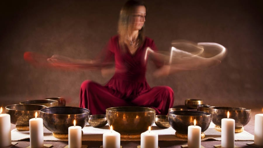 Tibetan Healing Sounds Of Singing Bowls 528hz Fire