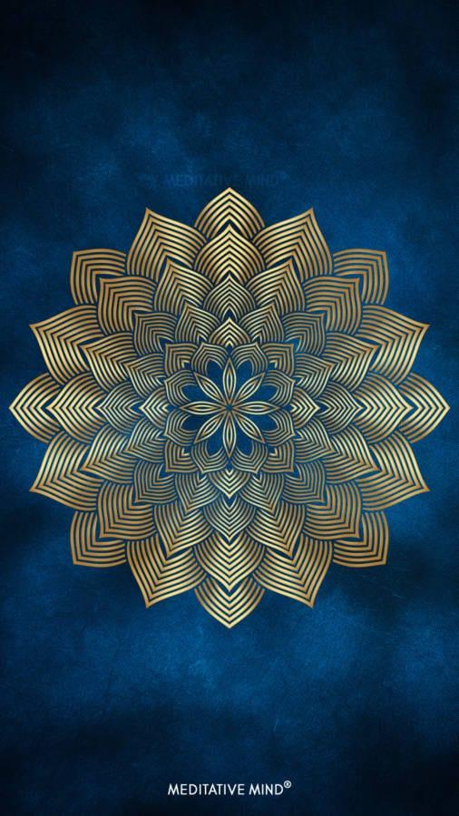 Golden Mandala Wallpaper1 by MeditativeMind